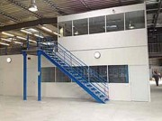 Plateforme de stockage et bureaux - Plateforme avec cloison bureau