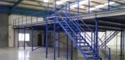 Plateforme de stockage industrielle à poteaux - Mezzanine plateforme sur-mesure