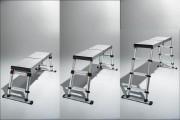 Plateforme de travail télescopique - Hauteurs 88 / 68 / 50 cm