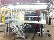 Plateforme maintenance tramway réglable - Réglable de 1 à 1,4 m