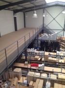 Plateforme mezzanine à escalier ERP - Plateforme + escalier ERP