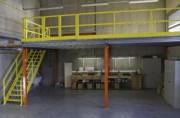 Plateforme mezzanine industrielle - Charge admissible : de 250 à 2000 Kg par m²