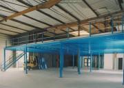 Plateforme mezzanine stockage - Charge (en kg) : 200 à 1000 kg au m2