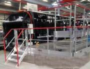 Plateforme mobile pour toiture de bus - Structure tout aluminium