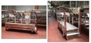 Plateforme roulante d'accès sur chaîne de conditionnement - Hauteur plate forme : 500 mm  -  Charge : 150 kg (1 personne)