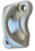 Platine d'ancrage en aluminium moulé - Matière : alliage aluminum moulé