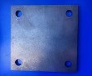 Platine en acier à souder - Plaque percée format carré ou rond