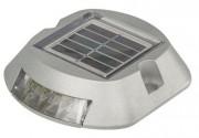 Plot lumineux solaire LED - Source lumineuse : 6 Leds haute luminosité (3 par face)