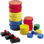 Plots d'affichage colorés - Aimants rectangulaires ou plots de 10 à 45 cm