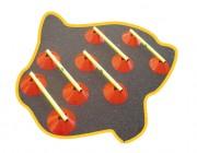Plots de marquage avec jalons - Lot : 12 cônes - 6 jalons