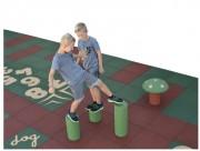 Plots en caoutchouc pour aire de jeux - 3 hauteurs : 20 - 35 - 50 cm