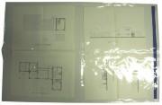 Poche protection de plans - Plan d'architecte au format A0 (841x1189 mm) ou A1 (594x841 mm)