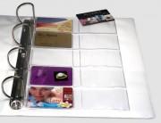 Pochette A4 pour cartes - PVC - Capacité 10 cartes format 86 x 54 mm par pochette
