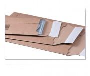 Pochette carton ondulé - Patte auto-adhésive avec bande protectrice