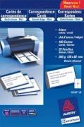 Pochette de 100 cartes de correspondance 82x128mm Quick&Clean 260g impression recto verso - Avery