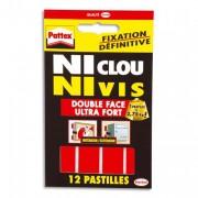 Pochette de 12 pastilles adhésives NiClou, NiVis de 687066 - Pattex