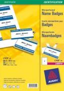 Pochette de 200 étiquettes pour badges à clip plastique format 5,5 x 8,6 cm - Avery