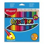 pochette de 24 crayons de couleur coloris assortis COLORPEPS - Maped