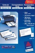 Pochette de 250 cartes de visite microperforées ( 85x54 mm) 185g jet d encre laser, copieur - Avery