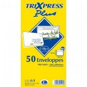 Pochette de 50 enveloppes 80 grammes format 110 x 220 mm coloris blanc référence 1416 - La Couronne