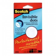 Pochette de 64 pastilles invisible dots Fix 02 de L0106 - Scotch