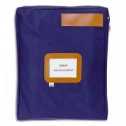 Pochette navette bleue en PVC à soufflets dimensions : 42x32x5cm - Alba