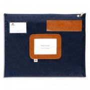 Pochette navette bleue en PVC dimensions : 42x32cm - Alba