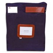 Pochette navette bleue grand modèle en PVC à soufflets dimensions : 40x50x5cm - Alba