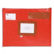 Pochette navette rouge en PVC dimensions : 42x32cm - Alba