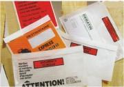 Pochette porte documents auto-adhésive - Dimensions utiles : de 80 x 110 à 220 x 310 mm