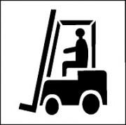 Pochoir chariot pour marquage - En PVC