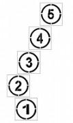 Pochoir chiffre magique pour marquage - En PVC