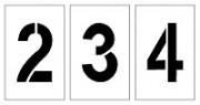 Pochoir chiffre pour marquage - En PVC souple – épaisseur 0.2 mm