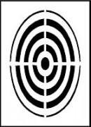 Pochoir cible pour marquage - Matière : PVC souple – épaisseur 0.2 mm