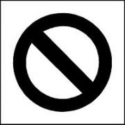 Pochoir d'interdiction pour marquage -  En PVC souple – épaisseur 0.2 mm / Réutilisable