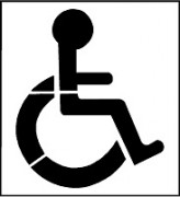 Pochoir handicap - Medium ép : 3 ou 6 mm ou PVC souple – épaisseur 0.2 mm