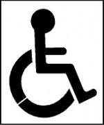 Pochoir handicap pour marquage parking - En PVC souple – épaisseur 0.2 mm