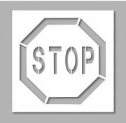 Pochoir panneau stop - En PVC souple - épaisseur 0.2 mm