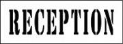 Pochoir pour marquage réception - Réutilisable - (Utilisation modérée)