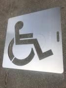 Pochoir pour place de parking PMR - Matière : Aluminium