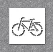 Pochoir vélo pour marquage - En PVC souple - épaisseur 0.2 mm
