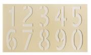 Pochoirs marquage au sol - Matière : PVC - Format de la feuille : Jusqu'à 900 x 500 mm
