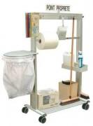 Point de propreté mobile pour atelier - Largeur : 650 mm et 990 mm