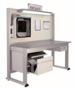 Point qualité Laboratoire - En aluminium anodisé rainuré - Base acier