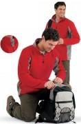 Polaire personnalisée manches longues - Sweat-shirt homme bicolore micro polaire