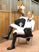 Polo de compétition manches longues - En dentelle blanche ou noire