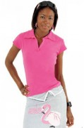 Polo personnalisable manches courtes femme côte 1x1