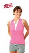 Polo personnalisé jersey sans manches femme