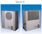 Pompe à chaleur intérieur piscine - Echangeur titane - De 8,8 à 59,5 kW, puissance restituée jusqu'à x 4,72.