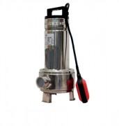 Pompe de relevage monophasée inox pour eaux chargées 0.55 kW - KW : 0.55 - 9m max d'immersion - 9.1 m3/h